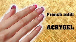 Acrygel Agate Nails refill by Zhana Balaush / Relleno de uñas /Коррекция ногтей Agate