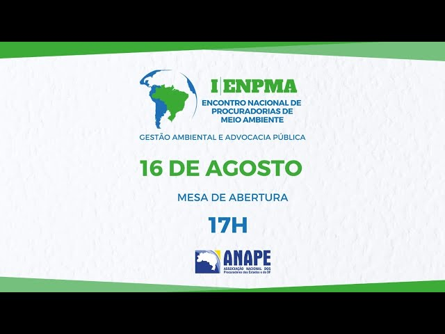 1º ENPMA ENCONTRO NACIONAL DE MEIO AMBIENTE