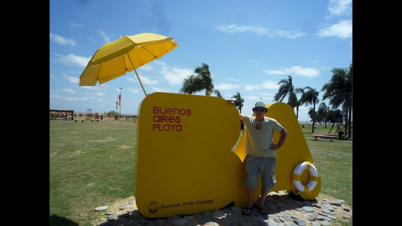 Аргентина. Пляж в Буэнос-Айресе. Argentina - Beach in Buenos Aires.