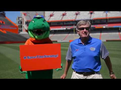 Head Ball Coach Steve Spurrier reacts to announcement