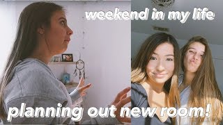 vlog: room transformation planning + weekend in my life!