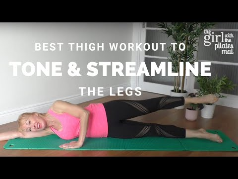 25 Minute Best Thigh Workout to Tone and Streamline the Legs (At Home No Equipment Routine)