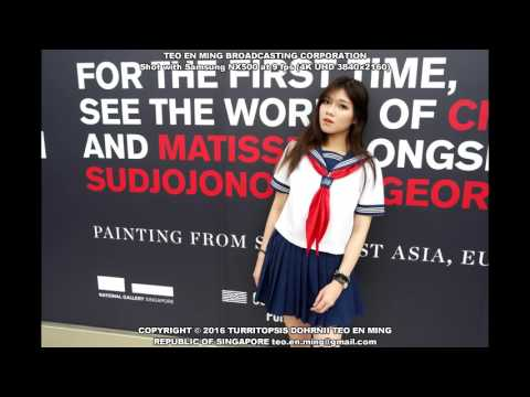 Ivy Sim Mei Jun Sailor School Uniform Shoot 1 at National Gallery Singapore on 6 May 2016 Fri