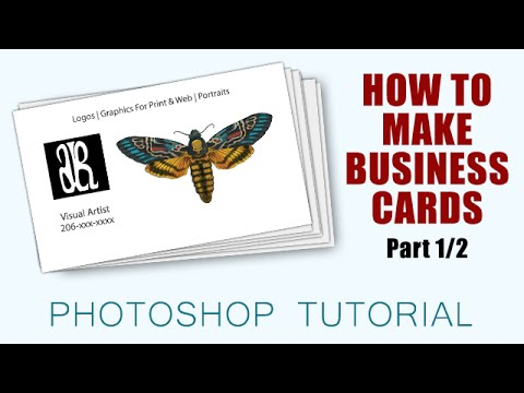 How to make business cards with photoshop cc part 1 2 for How to print business cards in photoshop