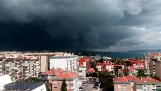 Tempestade sobre Lisboa - Oeiras