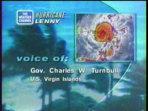 TWC Hurricane Lenny coverage 1999: Clip 4