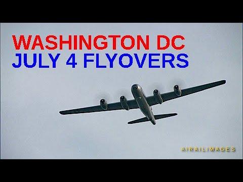 Washington DC July 4 Flyovers