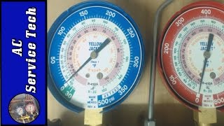 R22 and R410A Refrigerant Operating Pressures on Air Conditioning Units!
