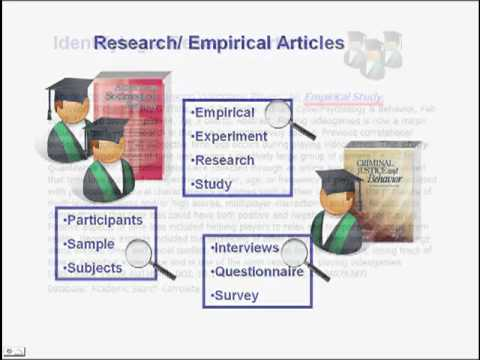 Types of Scholarly Articles
