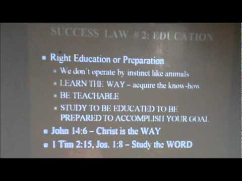 THE SEVEN LAWS OF SUCCESS PART 2 1-8-2012.