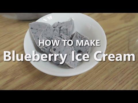 How to Make Blueberry Ice Cream [EASY]