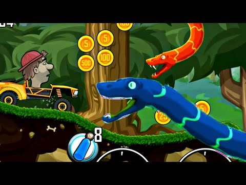 Hill climb racing jungle 4500+ meter with trophy truck |