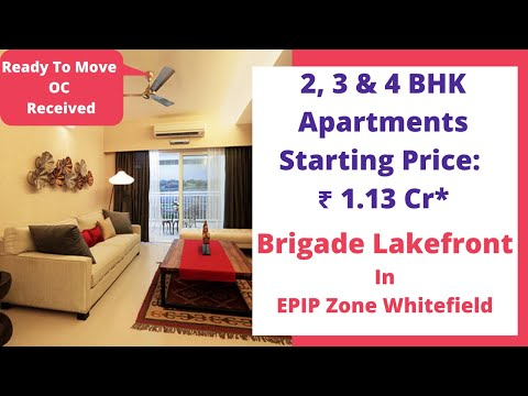 Brigade Lakefront EPIP Zone Whitefield Bangalore | Sales 6366370375 | Actual Video