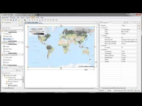 Display a Geo Map component: Design Studio 1.5