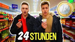 24 Stunden mit 1€ ÜBERLEBEN! (ZU ZWEIT) | Max und Chris