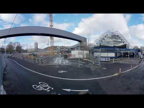 [360°] Der neue Weg zum Planetarium | 9.12.2017 | #S21 #stuttgart21