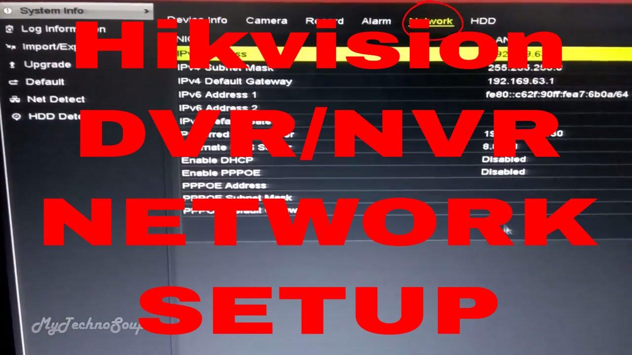 Internet Setup Of Hikvision Dvr || Hik-vision Dvr/Nvr Network Configuration