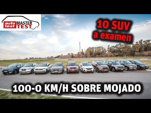 MASTER TEST: 100-0 km/h sobre mojado