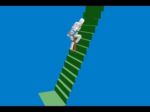 30 Degree of Freedom robot Climbing Steep Stairs - IHMC Robotics - DARPA  Robotics Challenge