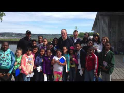 The mayor and county executive went on a field trip with fifth-graders from Krieger Elementary.