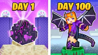 Download I Survived 100 DAYS as a DRAGON QUEEN in Minecraft!