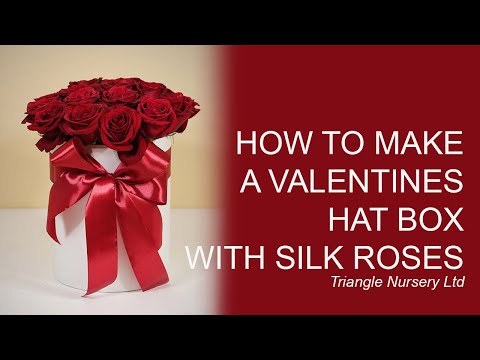 How to make a valentines hat box using artificial flowers youtube how to make a valentines hat box using artificial flowers mightylinksfo
