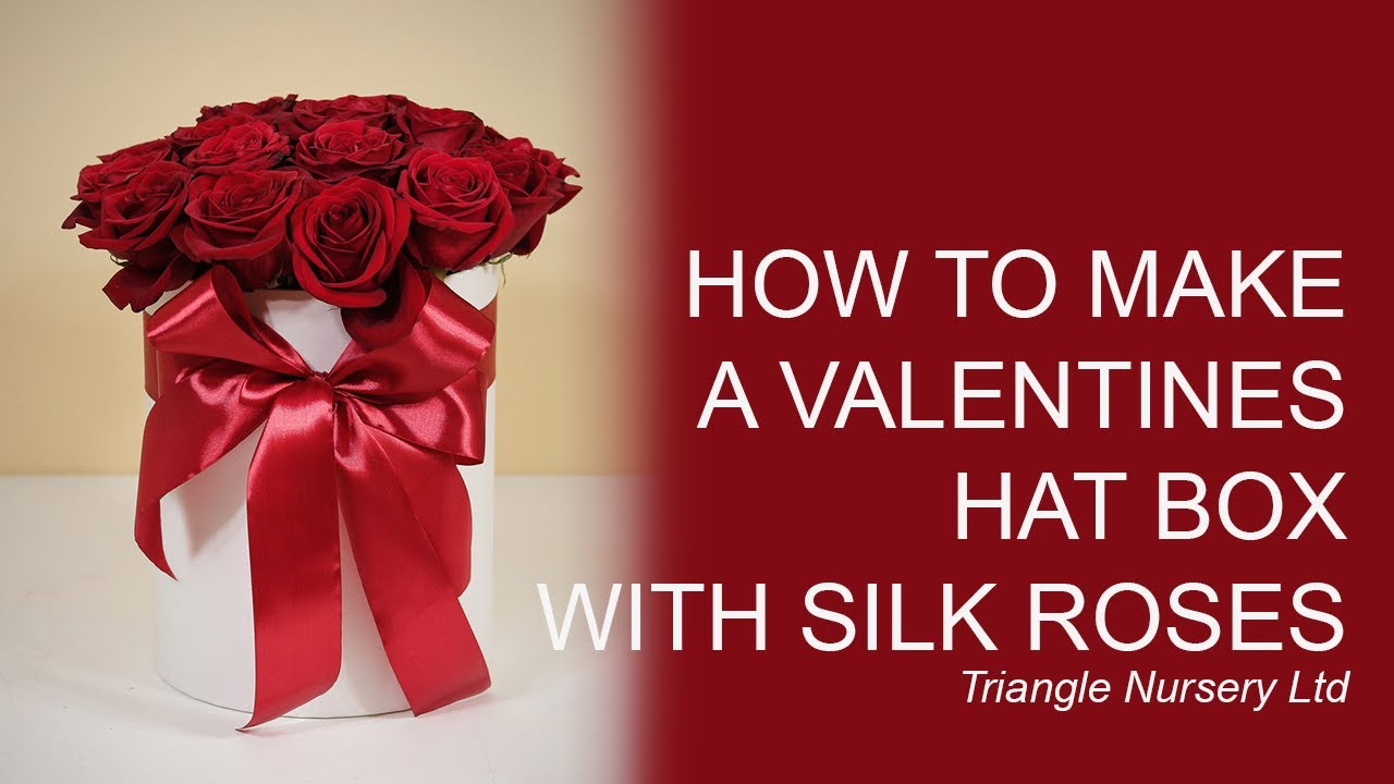 How To Make A Valentines Hat Box Using Artificial Flowers Youtube