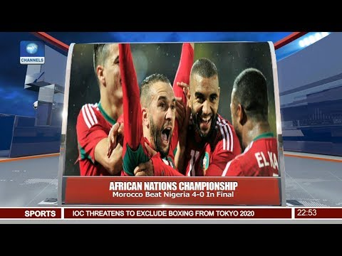 Morocco Beat Nigeria 4-0 In African Nations Champ Pt 4   News@10  