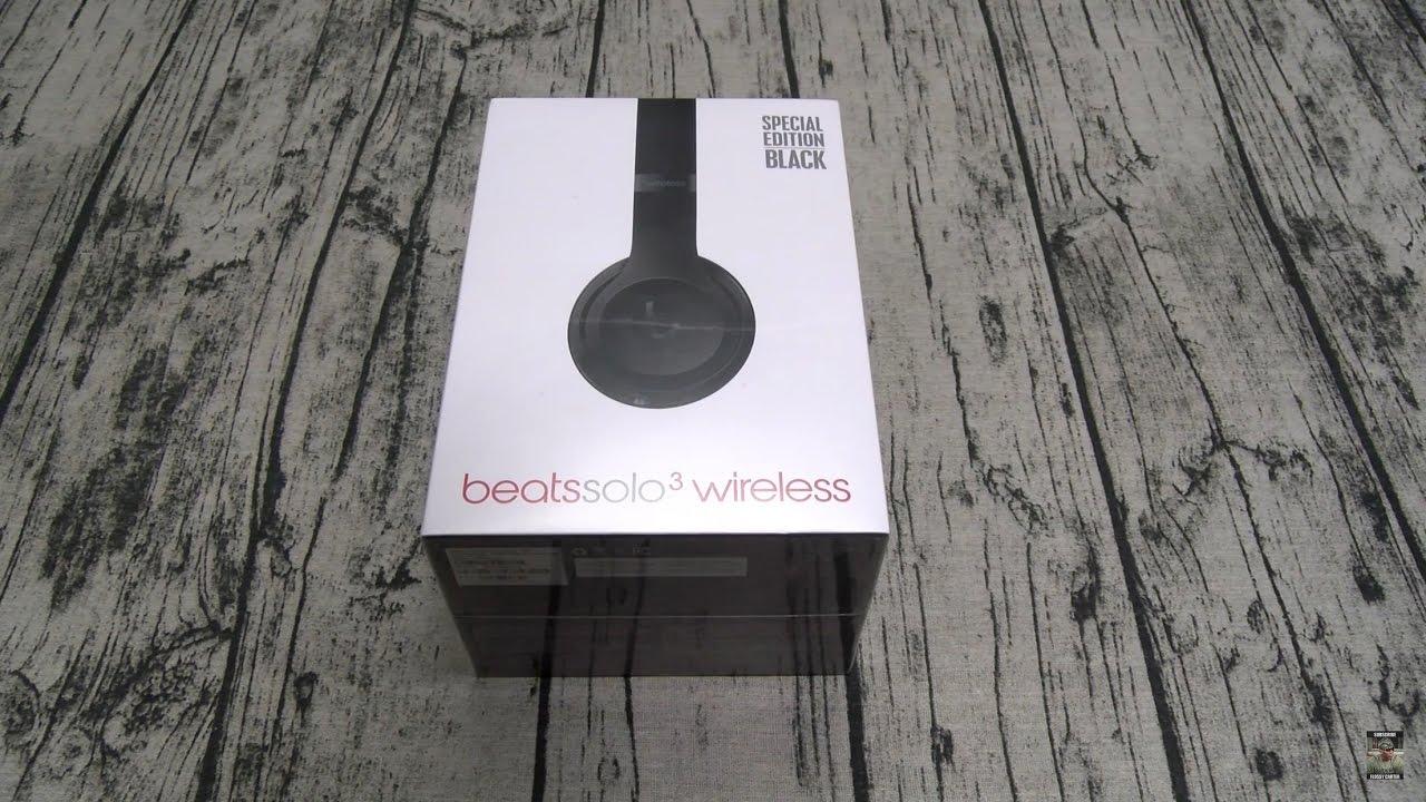 Beats Solo 3 Special Edition Black Wireless Headphones Youtube