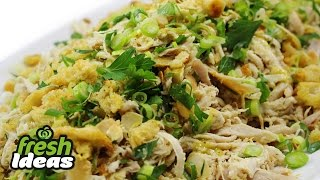 Easy Chicken Salad Recipe With Lemon Marinade And Toasted Almonds