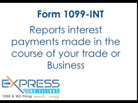 IRS Form 1099-INT