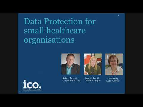 Data Protection for small healthcare organisations.