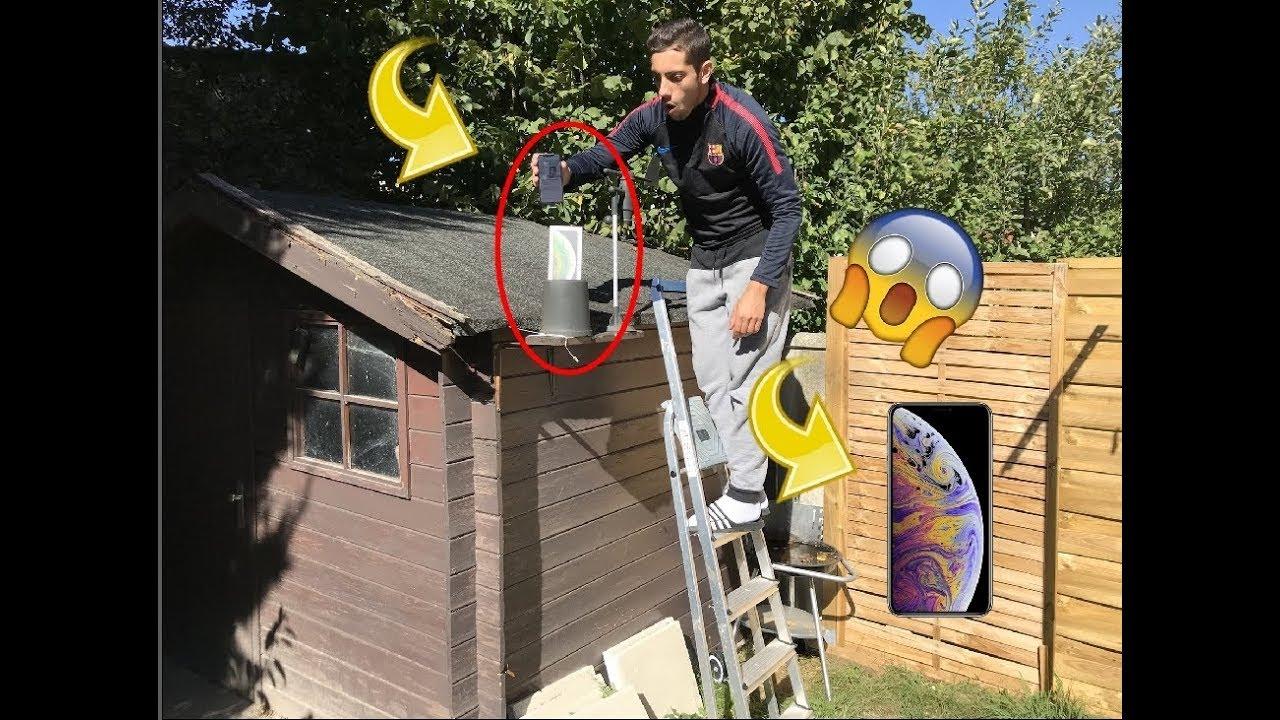 j 39 ai trouv un iphone xs sur le toit d 39 une cabane abandonn youtube. Black Bedroom Furniture Sets. Home Design Ideas