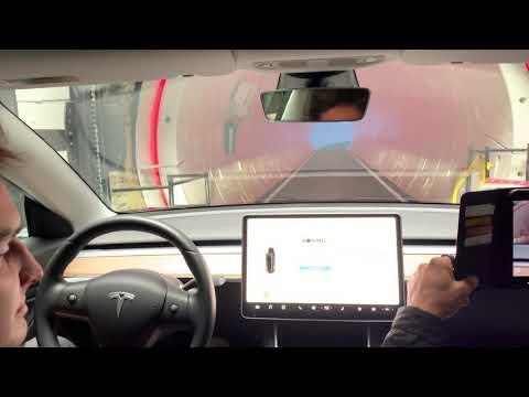 116 MPH Tesla / Boring Company Tunnel ride.  21 june 2019