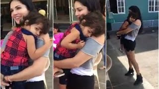 Cutest Moment of Sunny Leone with Kid