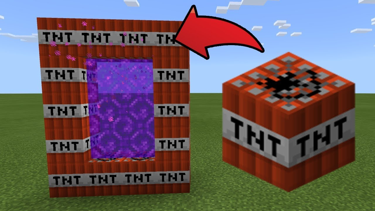 How To Make a Portal to the TNT Dimension in MCPE (Minecraft PE)