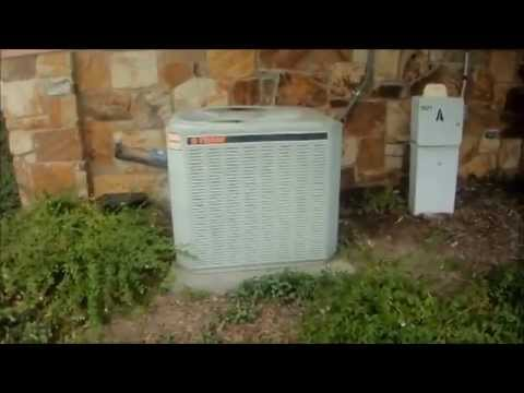2000 Trane Xe1000 10 Seer 1 5 Ton Central Air Conditioner Running