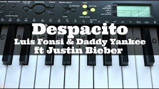 Despacito - Luis Fonsi ft Justin Bieber | Easy Keyboard Tutorial With Notes (Right Hand)