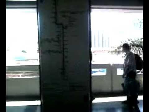 Metro De Medellín Nuevos Trenes CAF en funcionamiento El viaje del 2012 1-1-2012 SVM_A0300.mp4
