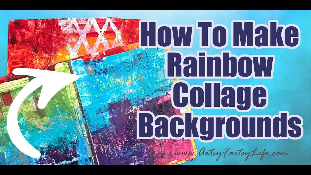 Rainbow Collage Women/'s Medium