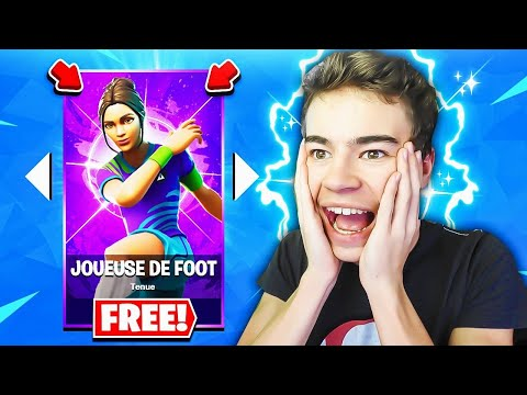 J'OFFRE un SKIN de FOOTBALL à un ABONNÉ sur FORTNITE ! 🕊🤑