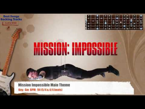 Mission Impossible Main Theme Guitar Backing Track