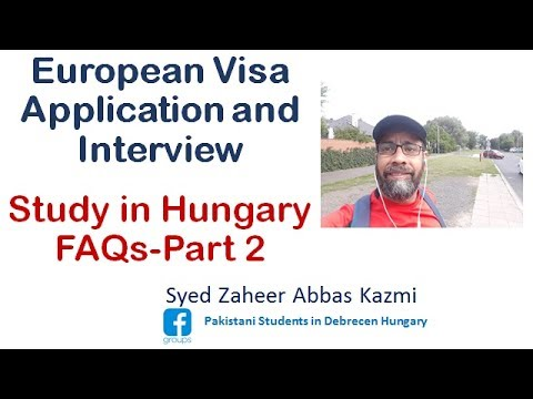 European Visa Application and Interview Guide Study in Hungary FAQs Part 2 m4a