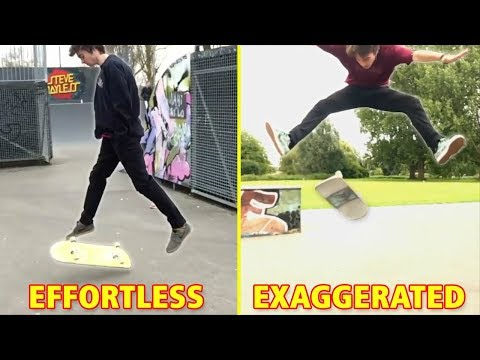 Exaggerated vs Effortless Skateboard Tricks
