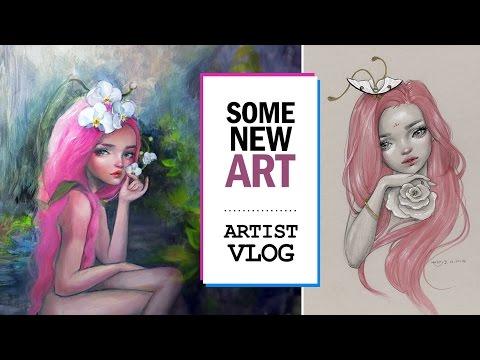 NEW ART (works in progress) // ARTIST VLOG 9