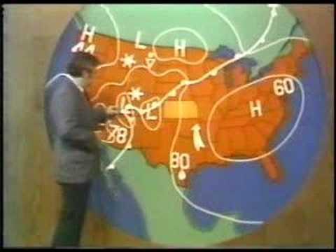 Tv Weather Map.Kake News 1974 Weather Forecast Youtube