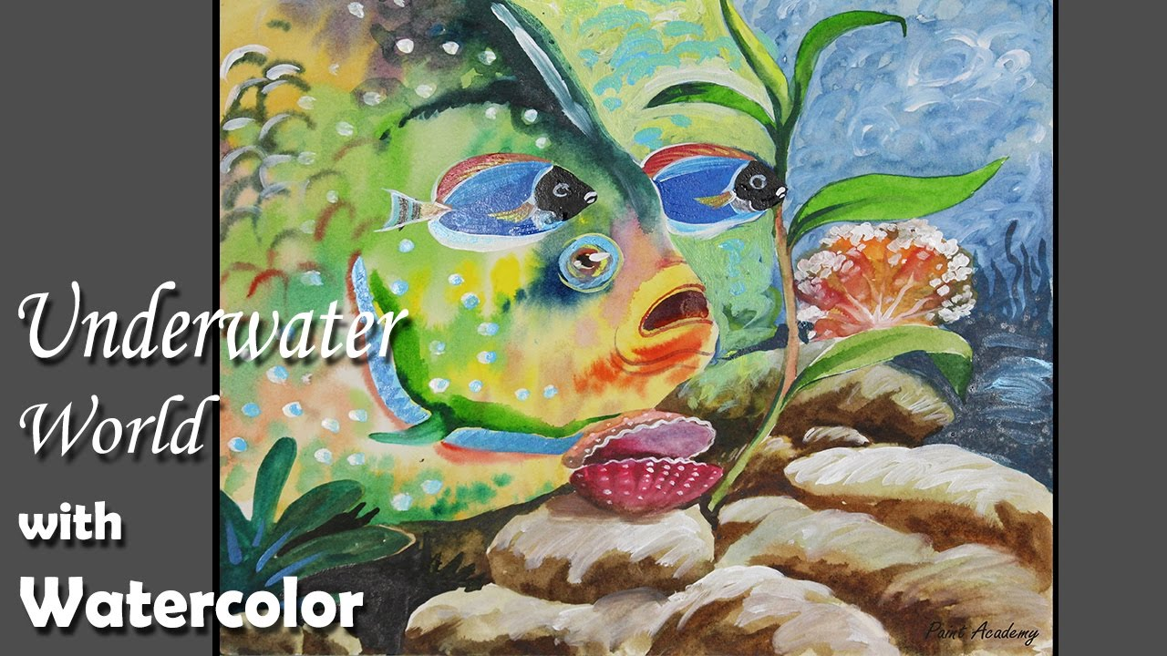 Underwater World Painting in Watercolor - YouTube