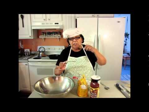 Helen in the Kitchen making frybread in Ojibwe part one