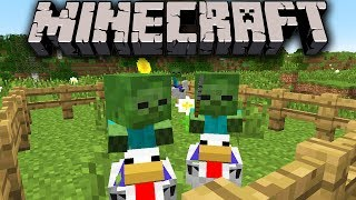 Minecraft 1.7.3 Snapshot: Chicken Jockeys Attack! Early Bird Baby Invasion, Seed Weakness, View Fix