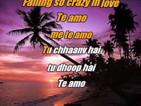 Te Amo - Dum Maro Dum - Karaoke with lyrics and lead
